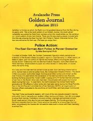 Aphelion 2015 w/Police Action