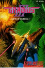 Gradius III Instruction Manual
