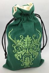 Green Man Dice Bag