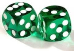 12.5mm Precision Backgammon - Green w/White (2)