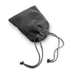 Grey Velour Dice Bag (Small)