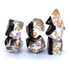 Poly Set Half-Panda w/Gold (7)