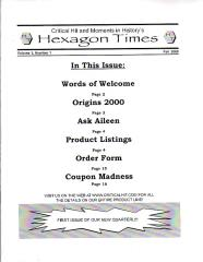 "Hexagon Times Vol. 1, #1 ""Origins 2002"" (Reprint Edition)"