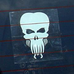 Cthulhu Decal - White
