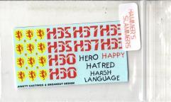 Blower Tank Decals 3 - Hero, Happy, Harsh Language