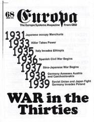 "#68 ""War in the Thirties, Still Tolls the Bells, War Begins in Europe"""