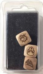 Set of 3 Dark Elf Block Dice