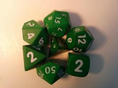 Squishy Dice - Poly Set - Green (7)