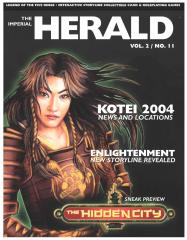 "Vol. 2, #11 ""Kotei 2004, Enlightenment Storyline Revealed, Hidden City Sneak Preview"""
