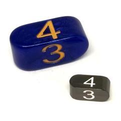 Infinity d4 Tiny Black w/White