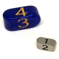 Infinity d4 Tiny Gunmetal w/Black