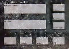 Initiative Tracker Cards
