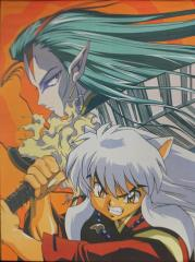 InuYasha - Inuyasha & Menomaru Wall Scroll