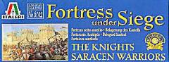 Fortress Under Siege - The Knights, Saracen Warriors w/Medieval Castle