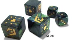Premium Attack Dice - Jade w/Gold (5)