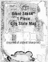 No-Name City Map (City State of the Invincible Overlord) (Reprint, Limited Edition)