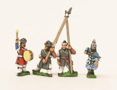 Officers, Standard Bearers & Drummers