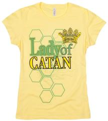Lady of Catan T-Shirt - Yellow (2XL)
