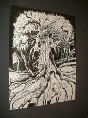 """B - Lamash the Wood Demon - Full - 11"""" x 13"""" Original Ink"""