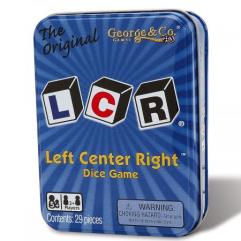 LCR - Left Center Right Card Game (Metal Tin Edition)
