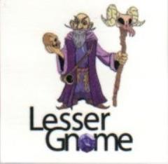 Lesser Gnome Logo Temporary Tattoo