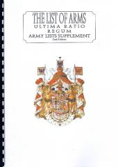 List of Arms, The - Ultima Ratio Regum Army Lists Supplement (2nd Edition)