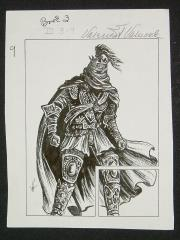 "TSR Dragonlance Legends #3 - Test of the Twins - Lord Soth - 3.5"" x 4.5"" Original Ink"
