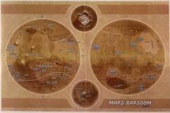 Poster Map - Mars/Barsoom (Kickstarter Exclusive)