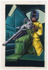 House Marik Interior Art #1 - Machine Gunner