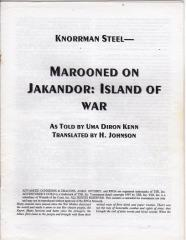 Series #1 - AD&D 2nd Edition, Marooned on Jakandor - Island of War