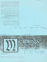Melanda - Character Sheets