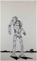 Unidentified Battletech Pen and Ink #1