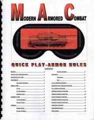 Modern Armored Combat - Quick Play Armor Rules