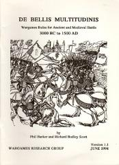 De Bellis Multitudinus - Wargames Rules for Ancient and Medieval Battles 3000BC - 1500AD (Version 1.1)