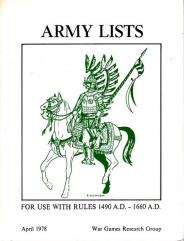 Army Lists - 1490-1660 AD