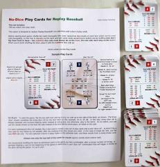 No-Dice Play Cards for Replay Baseball