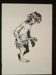 "#21 - Oowah - 2"" x 4.5"" Original Ink"