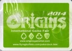 2014 Origins Convention Gaming Industry Playing Cards (Green Back)