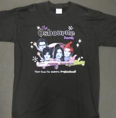 Osbourne Family Cartoon Car T-Shirt (XL)