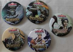 Gen Con 2012 Button Collection - 5 Buttons