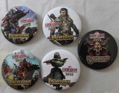 Gen Con 2013 Button Collection - 5 Buttons