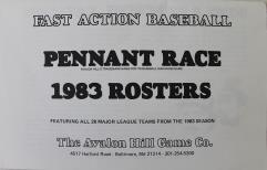 Pennant Race (1983 Edition) - Roster Book Only!