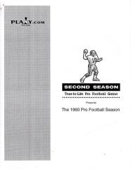 1960 Pro Football Season