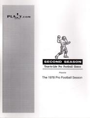 1978 Pro Football Season