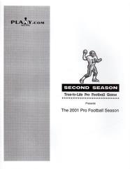2001 Pro Football Season