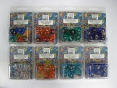 Poly Set Translucent Lot - Eight 7 Piece Sets!