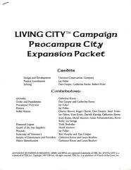 Living City Campaign - Procampur City Expansion Packet