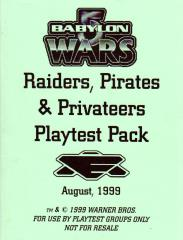 Raiders, Pirates & Privateers Playtest Pack
