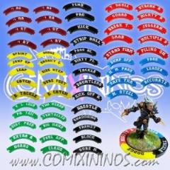 Complete Set of 59 Puzzle Skill Rings for 32mm Bases - Multicolor