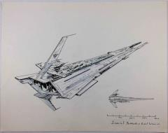 Renegade Legion Concept Sketch - Imperial Battleship, Gael Warrior